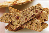 whole wheat walnut raisin biscotti
